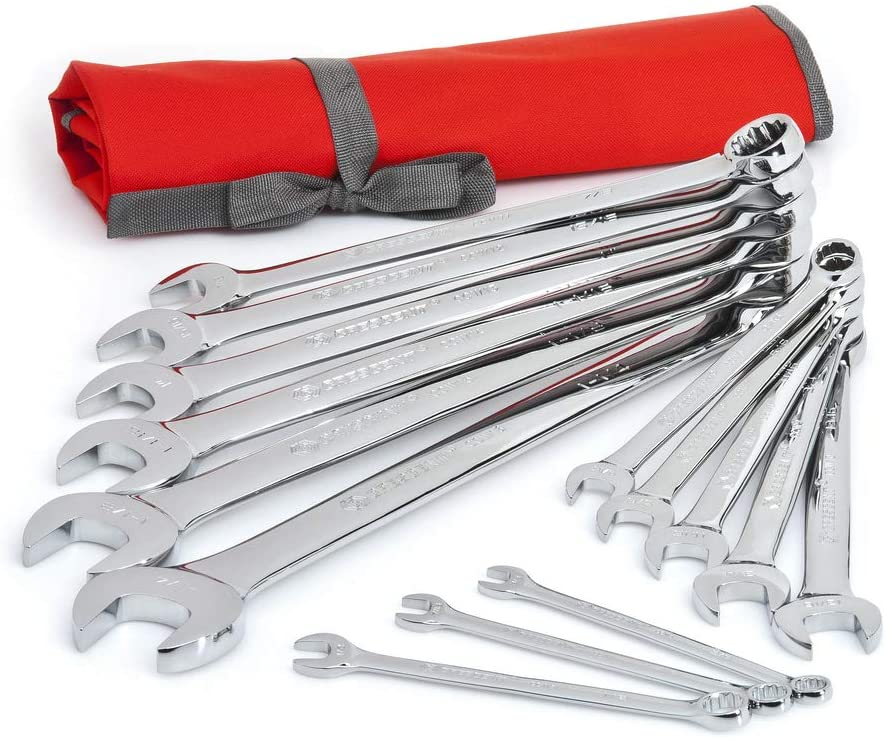 Dallas Mall Crescent 14 Pc. 12 Point Long Beach Mall SAE with Set Wrench Tool Combination Ro