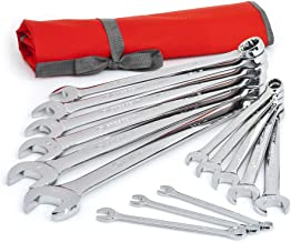 Crescent 14 Pc. 12 Point SAE Combination Wrench Set with Tool Roll – CCWS4