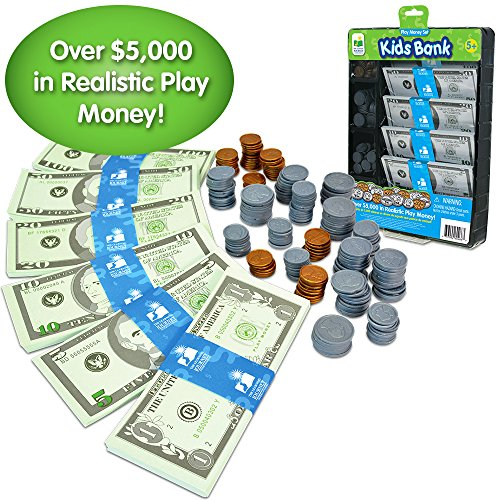 The Learning Journey Kids Bank Play Money Set – Preschool Toys & Gifts for Boys & Girls Ages 5 and Up
