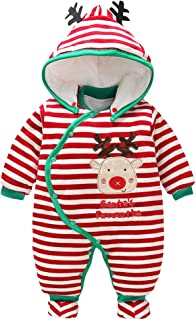 fe9ebb1c8 Mameluco de Navidad para Bebé Invierno Mono Traje de nieve Ropa de Santa  Claus manga larga