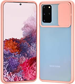 Ownest Compatible with Samsung Galaxy S20 Plus Clear Frosted Case,with Slide Camera Cover Protection Design,Slim and Light...