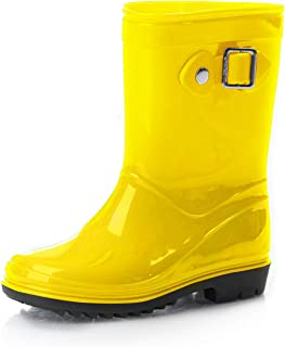 Silky Toes Boys Girls Rain Boots for Kids, Waterproof Toddler Little/Big Kids Classic Wellies