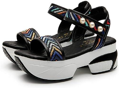 Femme Escarpin Mode Sandale Décontracté Compensée Chaussure de Vacances Loisir Lanière Bout Ouvert été