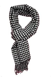 Runtlly Men's Winter Scarf Soft Classic Cashmere Feel Scarves Unisex 8-4 BlackWhite