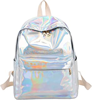 Glitter Women Backpack for Girls Frozac Bag School Laser Silver Book Backpack College Rucksacks Mujer Xa398Wb