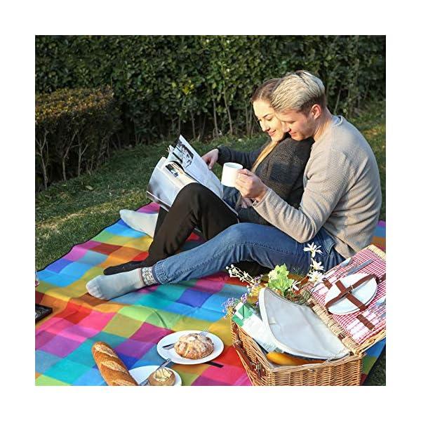 SONGMICS Outdoor Picnic Blanket, Water-Resistant Mat, Multifunctional Beach