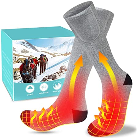 Angeln BAOTWO Beheizte Socken Motorradfahren Camping Elektrische Heizsocken f/ür Herren Damen Radfahren Winter Warme Baumwollsocken f/ür Outdoor-Sportarten Skaten und Skifahren