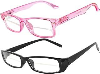 Narrow Retro Fashion Style Rectangular Frame Clear Lens Eyegl 2 Colors