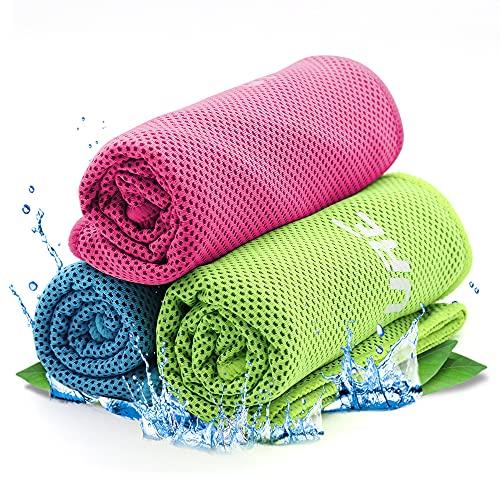 Cooling Towel Kühlendes Handtuch,Kühlhandtuch Cool Towel Sporthandtuch Herren ,Kühlhandtuch Fitness Handtuch für Golf,Fitness,Sport,Reise,Yoga (Blau, Grün, Rosa)