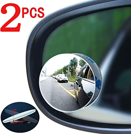 2Pcs Universal 360° Auto Wide Angle Convex Rear Side View Blind Spot Mirror