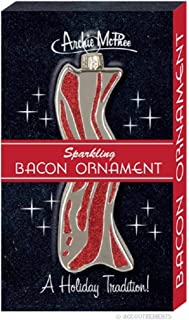 Accoutrements Sparkling Bacon Christmas Tree Ornament