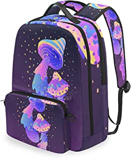 Mochila con bolsa cruzada desmontable, diseño psicodélico, para viajes, senderismo, acampada