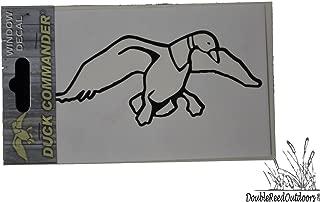 DUCK COMMANDER Duck Logo Sticker, White