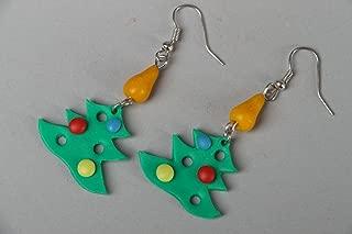 "Polymer Clay Earrings ""Christmas Tree"""