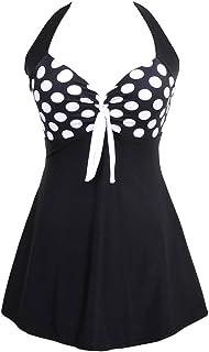 8c288254ecbe8 TDOLAH Femme Maillot de Bain Push Up Rembourré Amincissant Bikini Style  Robe Tankini Grande Taille Beachwear