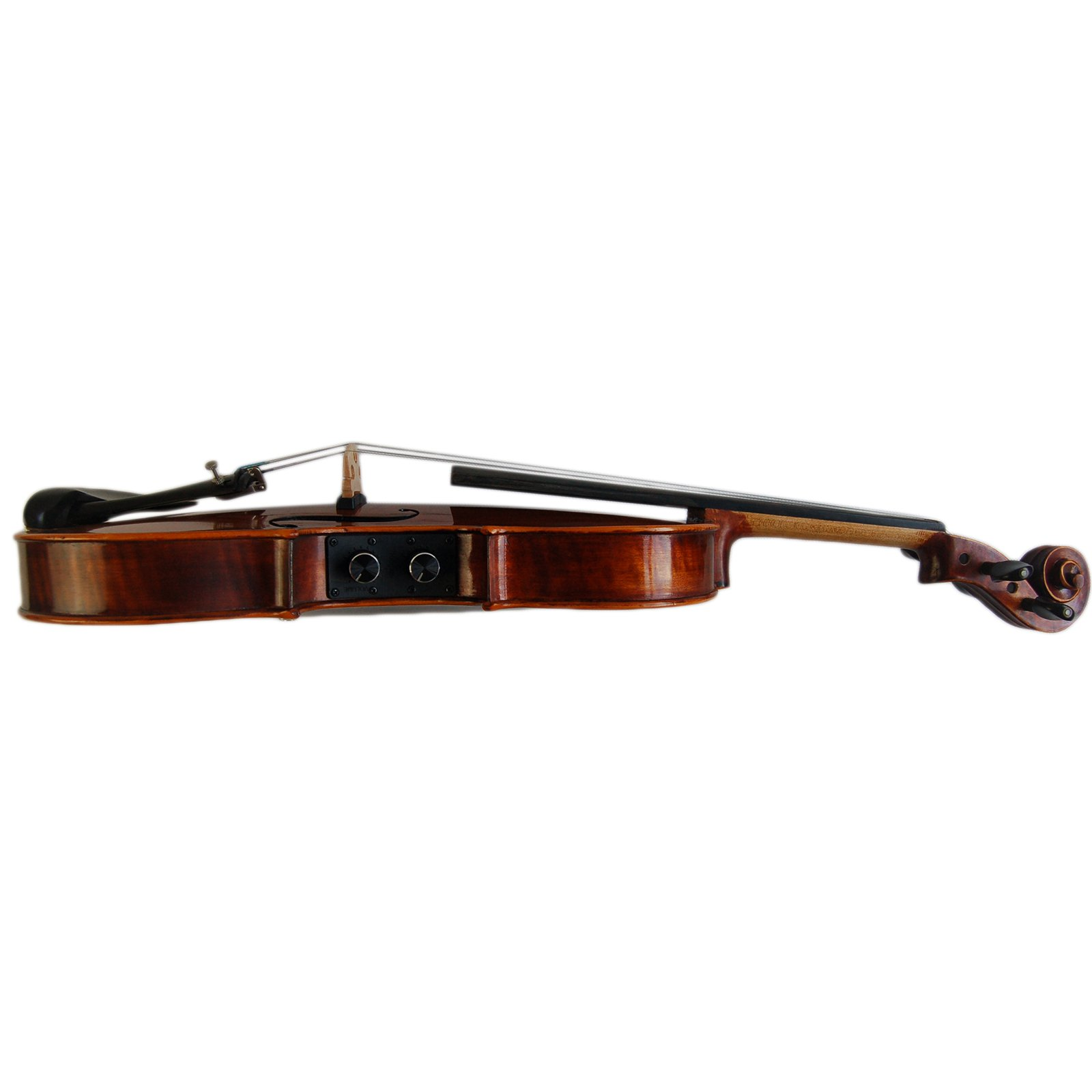 Kinglos 4//4 Brown Solid Wood Acoustic//Electric Violin Kit with Ebony Fittings Full Size YSDS-PH