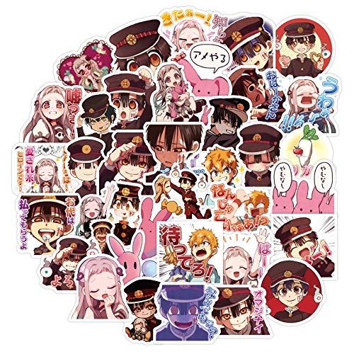 BLOUR 40 Uds.Pegatinas Hanako kun para Inodoro de Anime 3-4 CM Bonitas Pegatinas de Graffiti Impermeables para portátil, teléfono, Maleta, álbum de Recortes