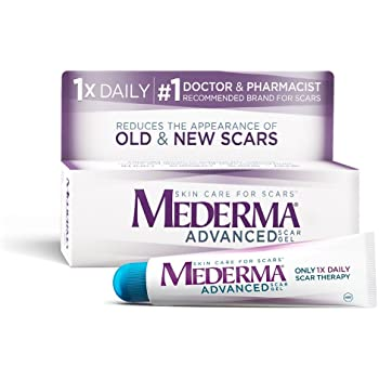 Amazon Com Mederma Advanced Scar Gel 1x Daily Use Less Save More Reduces The Appearance Of Old New Scars 1 Doctor Pharmacist Recommended Brand For Scars