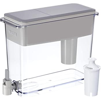 Brita Standard 18 Cup UltraMax Water Dispenser with 1 Filter, BPA Free, Gray, Extra Large Count
