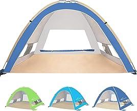 چادرهای ساحلی KEUMER بزرگ Pop Up Up Beach Umbrella اتوماتیک پناهگاه آفتاب آفتاب تنظیم آسان چادرهای مخصوص کمپینگ در وزن سبک 4 نفر ضد آفتاب قابل حمل ضد اشعه ماوراء بنفش قابل حمل برای بزرگسالان خانواده