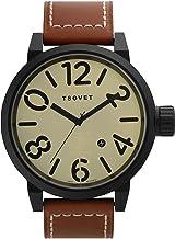 Tsovet SVT-LX73-331911-01 - Reloj analógico de Cuarzo para Hombre con Correa de Piel, Color marrón