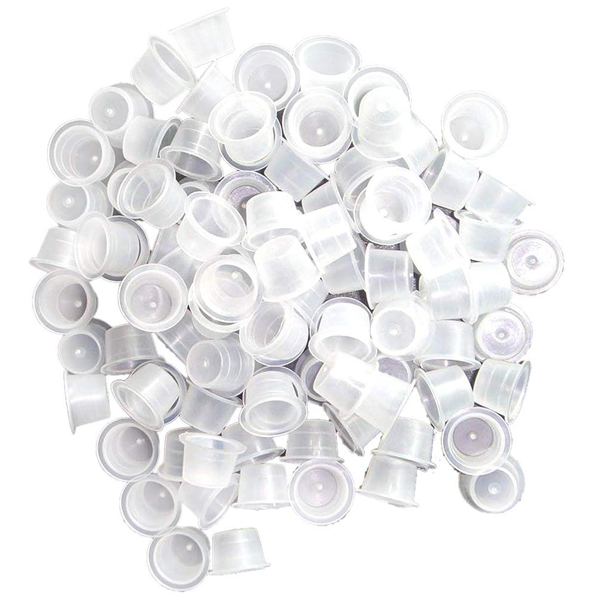 望みペネロペエスカレートSemoic 顔料カップ、300個 / バッグ 13mm ミディアム タトゥー インク リング 使い捨てマイクロブレード用 顔料カップ