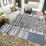 Kunsen alfombras de Salon Alfombra salón Grande roja Carpeta Rectangular Gris Sala de Estar decoración de la Resistencia a la Humedad Sucia alfombras de habitacion Juvenil 40X60CM 1ft 3.7' X1ft 11.6'