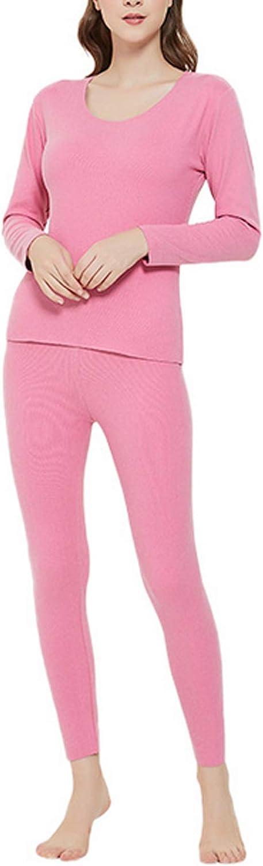 Letuwj Women's Thermal Underwear Pajamas Set with Fleece Lined