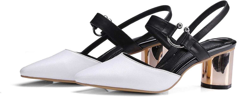 Donyyyy Damen Sandalen mit raue Fersen, weiß, 38  | Großer Verkauf  | Treten Sie ein in die Welt der Spielzeuge und finden Sie eine Quelle des Glücks  | Outlet Store