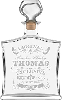 polar-effekt Personalisierte Edle Whiskyflasche mit Gravur - 700 ml Dekanter mit Glass Verschluss - Whisky-Karaffe Individuelles Geschenkidee zum Geburtstag - Motiv Original-Exklusive