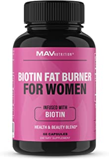 Biotin Fat Burner for Women 5000 mcg Biotin | Supports Weight Loss & Appetite Suppressant Diet Pills with Apple Cider Vine...