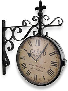 Grand Hotel Paris Double Sided Wall Mounted Clock