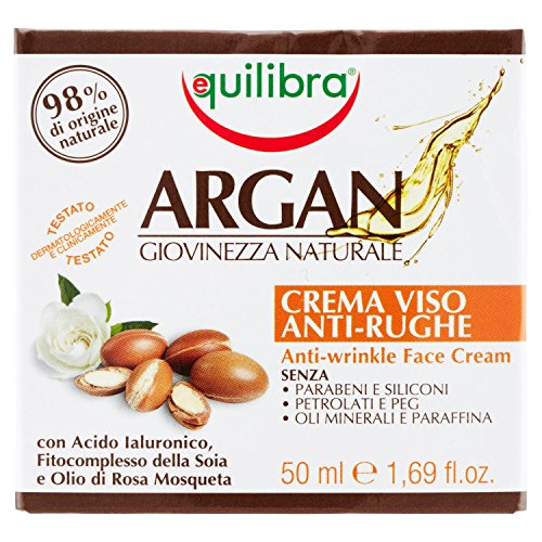 Equilibra Argan Crema Viso Anti-Rughe, 50 ml