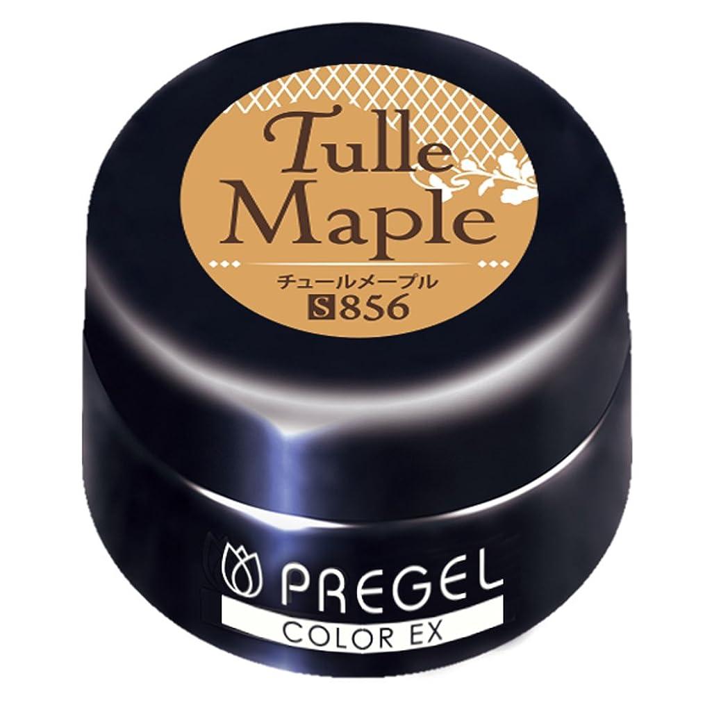 男らしさアスペクト偏見PRE GEL カラーEX チュールメープル856 3g UV/LED対応 カラージェル