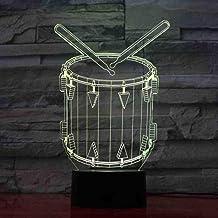 RJGOPL USB 7 kleuren Change Sleep Lighting Home Decor Creative 3D Art Drum Model Led Vision Musical Instruments Night Ligh...