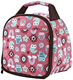 Pink insulated lunchbag for girls