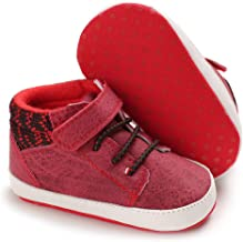 Meckior Save Beautiful Baby Girls Boys Canvas Sneakers Soft Sole High-Top Ankle Infant First Walkers Crib Shoes