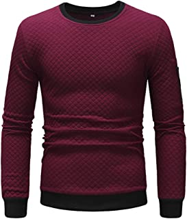Men Pullovers Round Neck Long-Sleeve Warm Sweatshirt Spring and Autumn Casual Sport Comfortable Pullovers All-Match Boutiq...