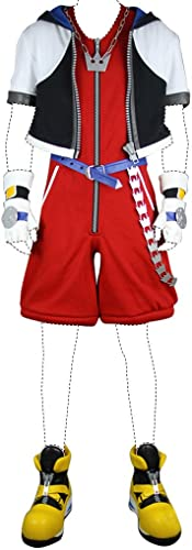 Kingdom Hearts 3D  Dream Drop Distance Cosplay Costume Sora Costume Set All