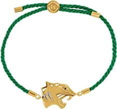 FB Jewels 18K Yellow Vermeil Tiger Symbol for Power Green Rope 8