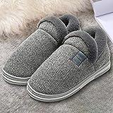 Inicio Zapatillas Hombre Mujer Zapatillas Hombre Zapatillas Fondo Suave Felpa Interior Zapatillas Slip-on Unisex Zapatillas -Gray_44-45