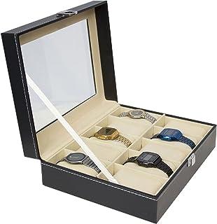 Rack & Pack Estuche Para Relojes Compartimiento Para 10 Relojes Alajas Joyas Caja Relojes Organizador Reloj Exhibidor Alaj...