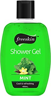 Freeskin Mint Body Wash Shower Gel 400ml, for Revitalizing Healthy and Fresh Skin, Suitable for all Skin Types