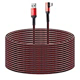 Compatible for Oculus Quest 2 Link Cable 16FT USB 3.0 Type A to C, Kuject Nylon Braided Long PC Connect Power Data Extension Charging Cord Red, Virtual Reality Gaming Accessories for Oculus Quest