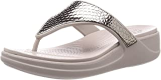 Monterey Metallic Wedge Flip Silver/Platinum 9