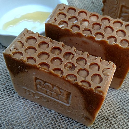 Goat's Milk Soap with Golden Blossom Honey and Oatmeal (Exfoliant) Made with Local Farm Fresh Goat Milk 7 Ounce