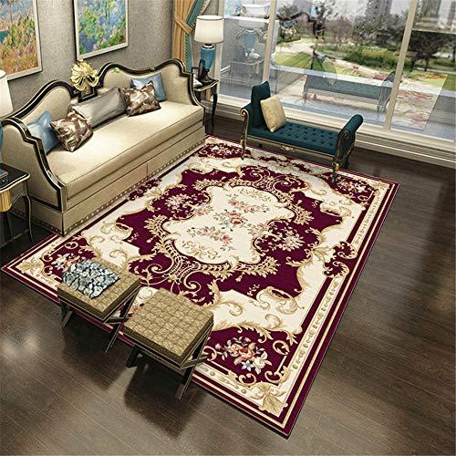 Kunsen Decoracion Comedor alfombras de Pasillo Red Beige Alfombra Estilo Chino Habitación Limitada Dormitorio Decorationanti-Slip Alfombra de habitacion 120X180CM 3ft 11.2' X5ft 10.9'