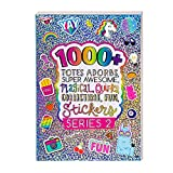 Fashion Angels 1000+ Totes Adorbs Colorful Stickers for Kids - Fun Craft Stickers for Scrapbooks, Planners, Gifts and Rewards, 40-Page Sticker Book for Kids Ages 6+ and Up