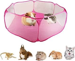 Pequeño animal Pet Playpen, hámster portátil hexagonal alambre valla de patio, jaula de mascota ejercicio Pen para Guinea Pig, cachorro, conejo, chinchillas, erizos