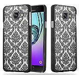 Cadorabo Samsung Galaxy A3 2016 Hardcase Hülle in SCHWARZ Blumen Paisley Henna Design Schutzhülle – Handyhülle Bumper Back Hülle Cover